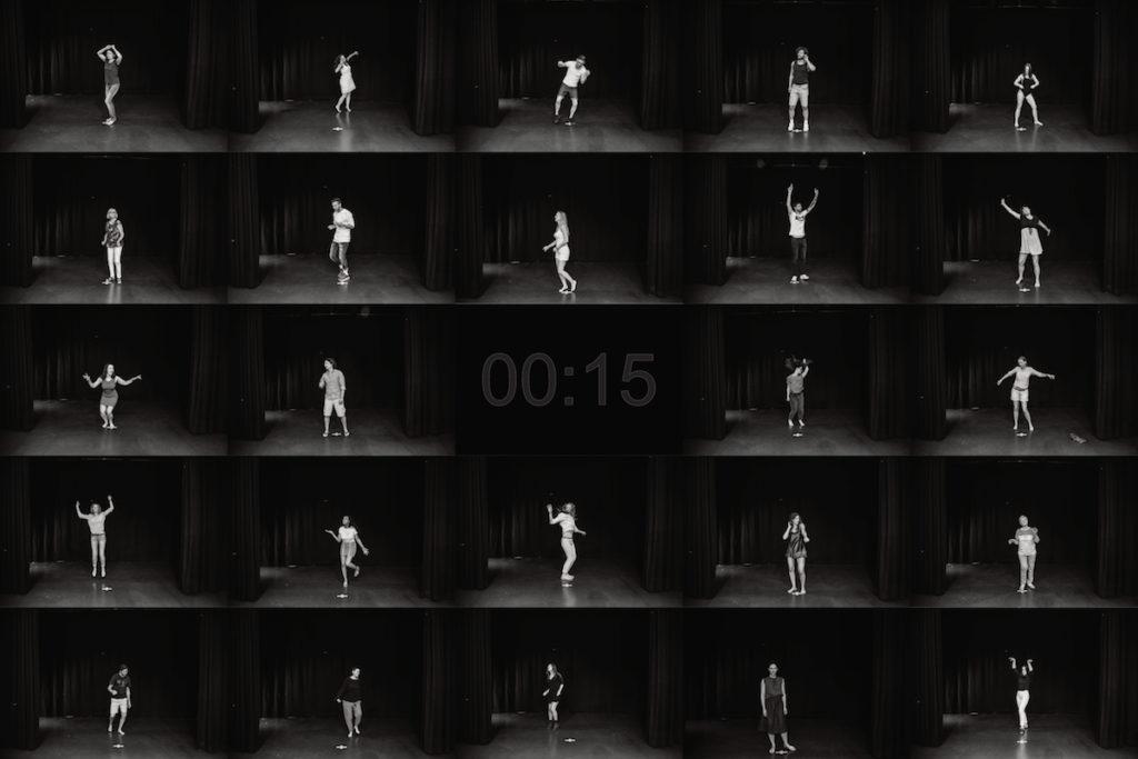 Variation 2 Tanzbilder Kunstprojekt
